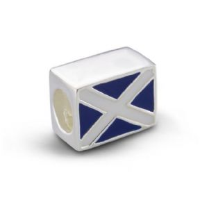 Scottish Flag Silver Bead Charm 9841